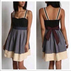 Anthropologie LUX Colorblock Cotton Navajo Dress